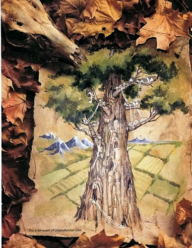 grandfather oak Una città su Nonno Quercia TSR - Planes of Chaos, the Travelogue (1994-07) © Wizards of the Coast & Hasbro