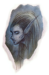 {$tags} Eladrin noviere - by Tony Diterlizzi TSR Planescape Monstrous Compendium Appendix II (1995-09) © Wizards of the Coast & Hasbro