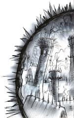 city of shadows ocanthus bladeling lamellin Zoronor - by Tony Diterlizzi TSR - Planes of Law, Acheron (1995-01) © Wizards of the Coast & Hasbro