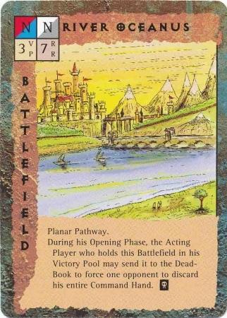 """upper planes """"River Oceanus"""", il fiume dei Piani Superiori - by Rob Lazzaretti TSR - """"Blood Wars"""" card game Base Pack (1995) © Wizards of the Coast & Hasbro"""