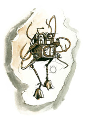 {$tags} Un'octone - by Adam Rex TSR - Planescape adventure - The Great Modron March (1997-09) © Wizards of the Coast & Hasbro