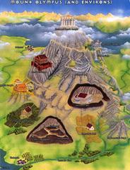 mount olympus scheme Rappresentazione del Monte Olimpo TSR - On Hallowed Ground (1996) © Wizards of the Coast & Hasbro
