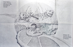 arborea first layer map Amun-Thys e la città di Elshava - by Dana Knutson TSR - Planes of Chaos (1994-07) © Wizards of the Coast & Hasbro
