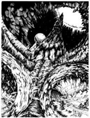 citadel of chaos pandemonium La cittadella-prigione del Caos - by Glen Michael Angus TSR - The Rod of Seven Parts (1996) © Wizards of the Coast & Hasbro