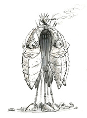 {$tags} Pentadrone - by Tony Diterlizzi TSR - Planescape Boxed Set - Planes of Law (1995-01) © Wizards of the Coast & Hasbro