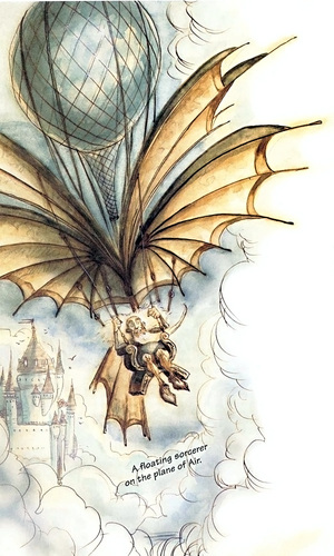 sorcerer elemental plane of air Viaggiare nell'Aria - by Tony Diterlizzi TSR - The Planewalker's Handbook (1996-08) © Wizards of the Coast & Hasbro