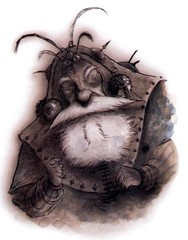 {$tags} Plumach Rilmani - by Tony Diterlizzi TSR Planescape - Monstrous Compendium Appendix II (1995-02) © Wizards of the Coast & Hasbro