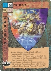 "primus modron mechanus ""Primus"" - by Newt Ewell TSR - ""Blood Wars"" card game Escalation Pack 3, Powers & Proxies (1995) © Wizards of the Coast & Hasbro"