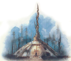 hall of speakers La Sala degli Oratori - by Tony Diterlizzi TSR - The Factol's Manifesto (1995-06) © Wizards of the Coast & Hasbro