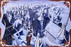 {$tags} Scorcio di Sigil dall'Amministrativo - by Dana Knutson TSR - Planescape Campaign Setting box (1994-04) © Wizards of the Coast & Hasbro