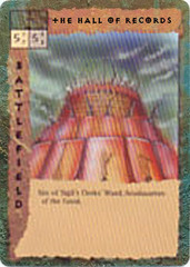 "sigil clerk's ward ""The Hall of Records"", la Sala dei Registri (qualità pessima, è il pensiero che conta) - by Newt Ewell TSR - ""Blood Wars"" card game Escalation Pack 2, Factols & Factions (1995) © Wizards of the Coast & Hasbro"