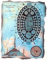 """hall of speakers map sigil Schema della Sala degli Oratori - by David S. """"Diesel"""" LaForce e Dana Knutson TSR - The Factol's Manifesto (1995-06) © Wizards of the Coast & Hasbro"""