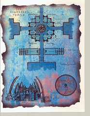 "shattered temple map lower ward Schema del Tempio Infranto - by David S. ""Diesel"" LaForce e Dana Knutson TSR - The Factol's Manifesto (1995-06) © Wizards of the Coast & Hasbro"