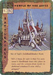 "sigil lower ward ""Temple of the Abyss"", il Tempio dell'Abisso - by Dana Knutson TSR - ""Blood Wars"" card game Escalation Pack 2, Factols & Factions (1995) © Wizards of the Coast & Hasbro"