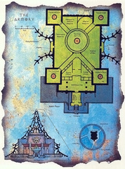 "armory map lower ward Schema dell'Armeria - by David S. ""Diesel"" LaForce e Dana Knutson TSR - The Factol's Manifesto (1995-06) © Wizards of the Coast & Hasbro"