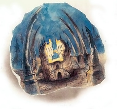 shattered temple of aoskar lower ward Il Tempio Infranto - by Tony Diterlizzi TSR - The Factol's Manifesto (1995-06) © Wizards of the Coast & Hasbro