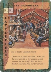 "sigil ""The Dragon Bar"", nel quartiere delle gilde - by Dana Knutson TSR - ""Blood Wars"" card game Escalation Pack 2, Factols & Factions (1995) © Wizards of the Coast & Hasbro"