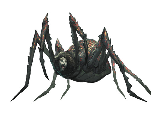 {$tags} Phase Spider - by Andrew Hou Pathfinder Roleplaying Game Bestiary (2009) © Paizo Publishing