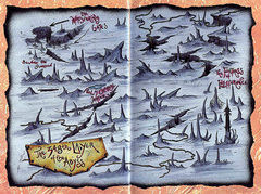 348 layer map Mappa del reame di Thralhavoc - by Ralph Horsley TSR - Hellbound, the Blood War (1996-06) © Wizards of the Coast & Hasbro