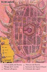 ribcage map Mappa della città di Gabbiadossa TSR - Fires of Dis (1995) © Wizards of the Coast & Hasbro