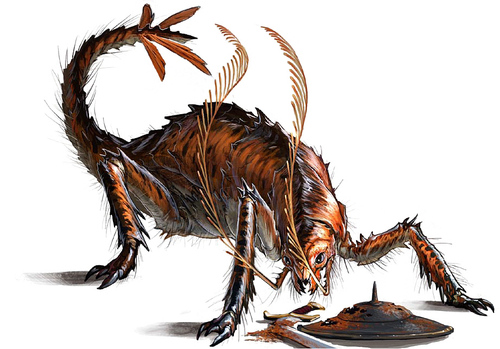 rust monster Rugginofago - by Ben Wootten Pathfinder Roleplaying Game Bestiary (2009) © Paizo Publishing