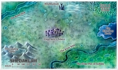 222 layer abyss map Una sezione mappata di Shedaklah Fiendish Codex I, Hordes of the Abyss (2006) © Wizards of the Coast & Hasbro