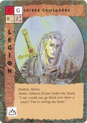 "eladrin ""Shiere Crusaders"" - by Rob Lazzaretti TSR - ""Blood Wars"" card game Base Pack (1995) © Wizards of the Coast & Hasbro"