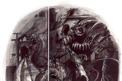 small cornugon molydeus mercykiller in sigil Un Giustiziere pensa bene di lasciare che il Molydeus se la scorni con due Cornugon, prima di amministrare la giustizia... - by Adam Rex