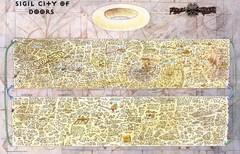 sigil classic map La mappa di Sigil - by Rob Lazzaretti TSR - Planescape Campaign Setting box (1994-04) © Wizards of the Coast & Hasbro