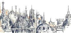 sigil city of doors view Panoramica di Sigil - by Ned Dameron TSR - In the Cage, a Guide to Sigil (1995-05) © Wizards of the Coast & Hasbro