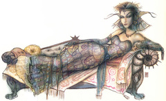 {$tags} Erin Darkflame Montgomery, Factol dei Sensisti - by Tony Diterlizzi TSR – The Factol's Manifesto (1995-06) © Wizards of the Coast & Hasbro