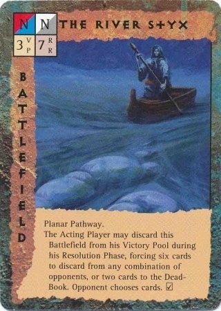 "marraenoloth battlefield ""The River Styx"", il fiume Stige - by Dana Knutson TSR - ""Blood Wars"" card game Base Pack (1995) © Wizards of the Coast & Hasbro"