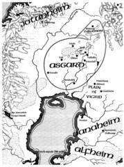 map Mappa dei reami di Ysgard TSR - Dragon Magazine #90 (1984-10) © Wizards of the Coast & Hasbro