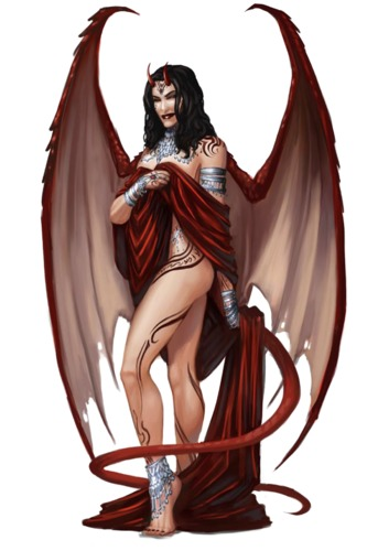 tanar'ri Succube - by Tyler Walpole Pathfinder Roleplaying Game Bestiary (2009-11) © Paizo Publishing