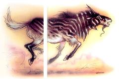 {$tags} T'uen-rin - by Tony Diterlizzi TSR - Planescape Monstrous Compendium Appendix II (1995) © Wizards of the Coast & Hasbro