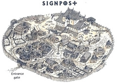 signpost beastlands Il Segnavia su Krigala - by Roy Boholst TSR - Something Wild (1996-02) © Wizards of the Coast & Hasbro
