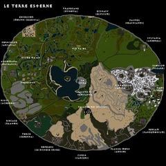 ultima online outlands La grande mappa di gioco delle Terre Esterne - dagli sviluppatori di UO Planescape Shard (2008) © Ultima Online Planescape Shard