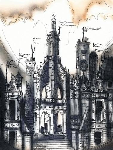 windglum city pandemonium La città di Tetrovento - by Tony Diterlizzi TSR - Planes of Chaos, the Book of Chaos (1994-07) © Wizards of the Coast & Hasbro