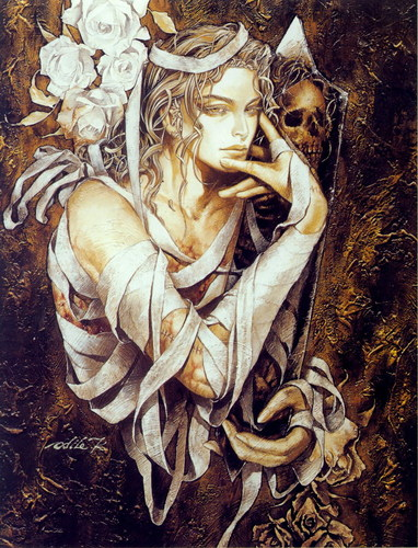 {$tags} Illustrazione evocativa... - by Ayami Kojima Castelvania Color Kingdom Artbook (1998/1999) © Konami e Koei