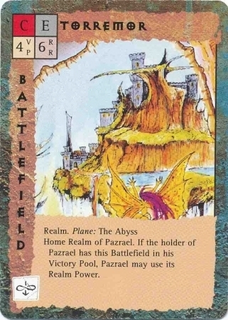 """abyss layer """"Torremor"""", reame di Pazrael - by Rob Lazzaretti TSR - """"Blood Wars"""" card game Base Pack (1995) © Wizards of the Coast & Hasbro"""