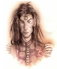 tulani greater Eladrin tulani - by Tony Diterlizzi TSR Planescape Monstrous Compendium Appendix II (1995-09) © Wizards of the Coast & Hasbro