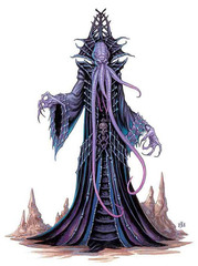 vampire mind flayer Ulitharid - by Jim Nelson Lords of Madness: The Book of Aberrations (2005-04) © Wizards of the Coast & Hasbro