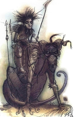 {$tags} Un Ululatore - by Tony Diterlizzi TSR - Planescape Planes of Chaos Monstrous Supplement (1994) © Wizards of the Coast & Hasbro