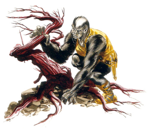 {$tags} Wildren barbaro - by David Roach Planar Handbook, A Player's Guide to the Planes (2004) © Wizards of the Coast & Hasbro