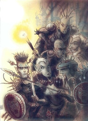 {$tags} Xaositect in agguato - by Tony Diterlizzi TSR – The Factol's Manifesto (1995-06) © Wizards of the Coast & Hasbro