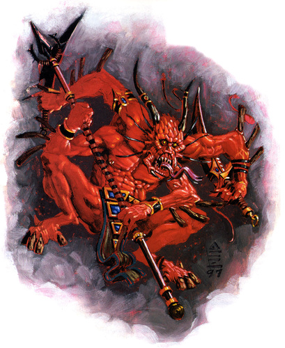 {$tags} Xill - by Scott M. Fischer Planescape Monstrous Compendium Appendix III (1998) © Wizards of the Coast e Hasbro