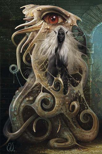 tanar'ri Yochlol - by Eric Williams Demon Queen's Enclave (2008-12) © Wizards of the Coast & Hasbro