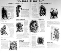 yugoloth society Schema della società Yugoloth (retro poster di Carceri) TSR - Planes of Conflict (1995) © Wizards of the Coast & Hasbro